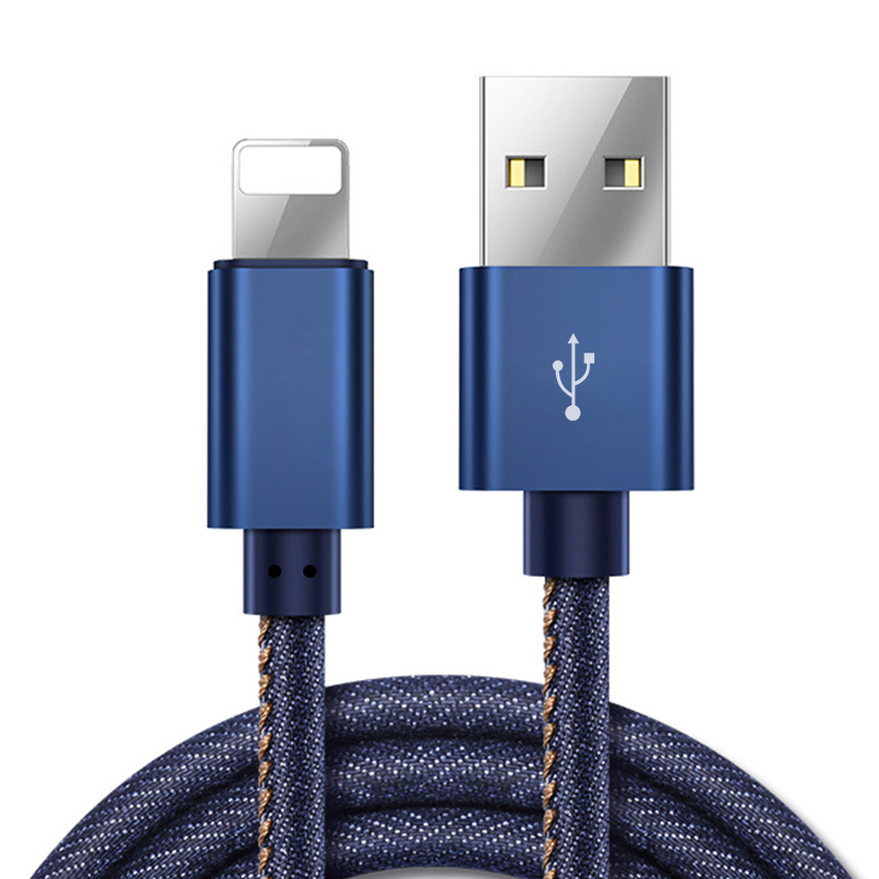 CC-03 Jean Braided charging cable for iphone